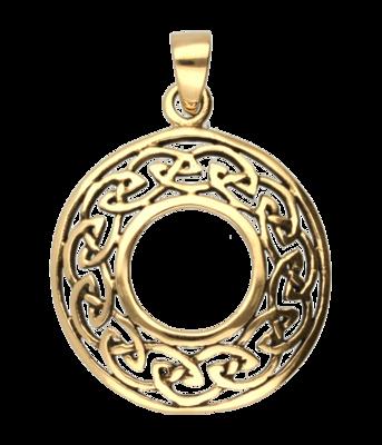 Keltische knoop open rond ketting hanger - brons