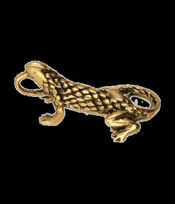 Hagedis ketting hanger - brons