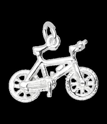 Zilveren Mountainbike ketting hanger