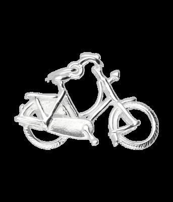 Zilveren Damesfiets ketting hanger