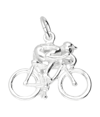 Zilveren Wielrenner ketting hanger