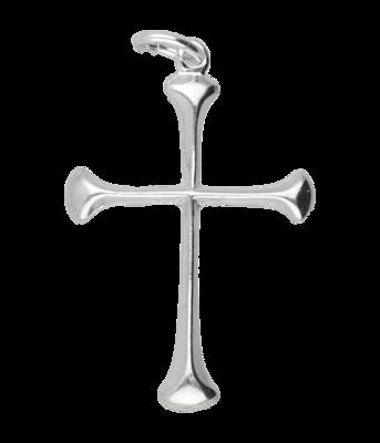 Zilveren Kruis ketting hanger