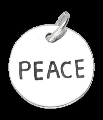Zilveren Peace kettinghanger