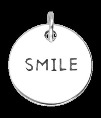 Zilveren Smile kettinghanger