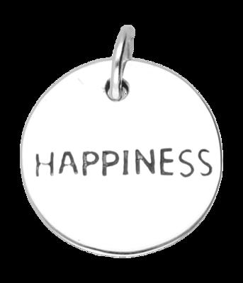 Zilveren Happiness kettinghanger