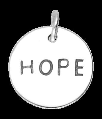 Zilveren Hope kettinghanger