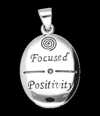 Zilveren Focused Positivity kettinghanger