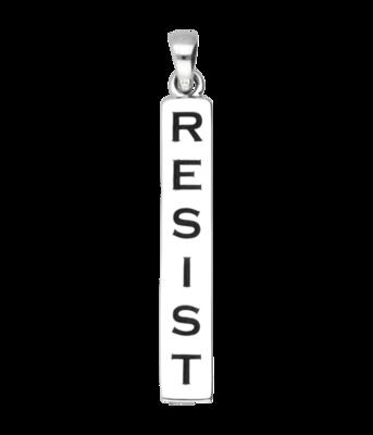 Zilveren Resist kettinghanger