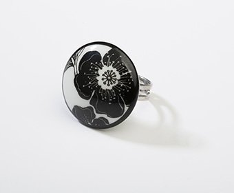 Nachtbloem Collectie rond porseleinen ring