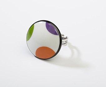 Feest Collectie rond porseleinen ring