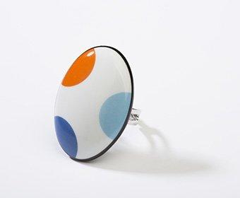 Feest Collectie ovaal porseleinen ring