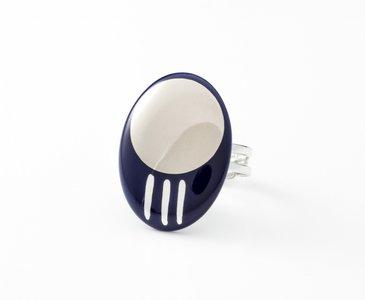 Oriënt Collectie ovaal porseleinen ring
