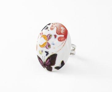 Vlucht Collectie ovaal porseleinen ring