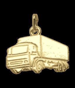 Gouden Vrachtwagen ketting hanger