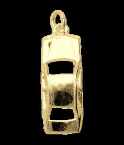 Gouden Mercedes ketting hanger