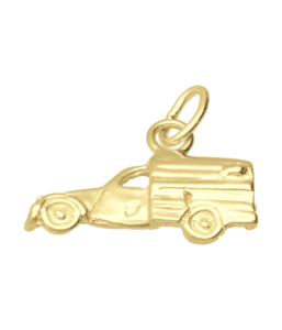 Gouden Citroën 2 CV Lelijk eend bestel ketting hanger