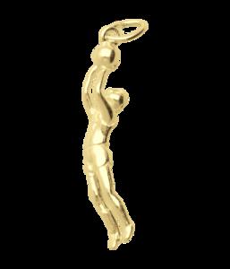 Gouden basketballer ketting hanger