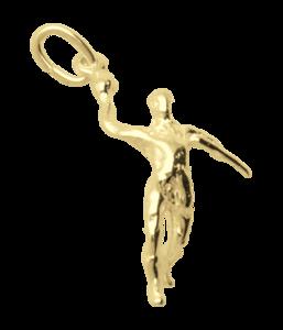Gouden Handballer ketting hanger
