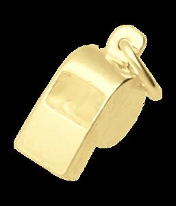 Gouden Scheidsrechtersfluit ketting hanger