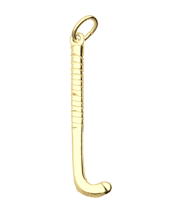 Gouden Hockeystick ketting hanger