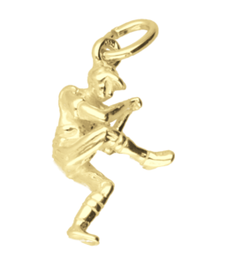 Gouden Honkbal werper ketting hanger