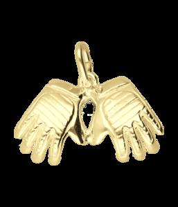 Gouden Keeper handschoenen ketting hanger