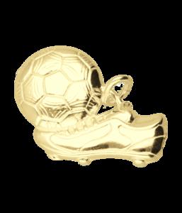 Gouden Voetbalschoen met bal groot ketting hanger