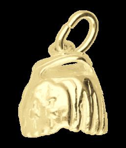 Gouden Honkbalhandschoen middel ketting hanger