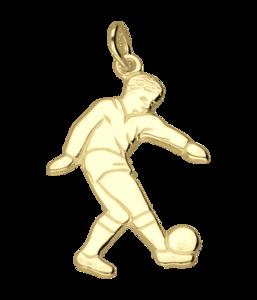 Gouden Voetballer vlak ketting hanger