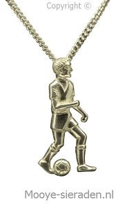 Gouden Voetballer ketting hanger
