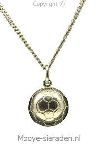 Gouden Voetbal half ketting hanger