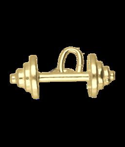 Gouden Halter klein ketting hanger