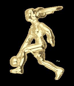 Gouden Bowlster ketting hanger