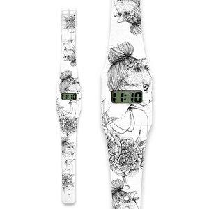 Mooye design horloge Poezenvrouwtje
