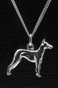 Zilveren Mexikaanse naakthond ketting hanger - groot