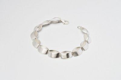 Zilveren design armband Caela 19 cm