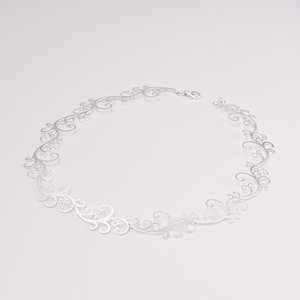 Zilveren design halsketting Cadence 43 cm