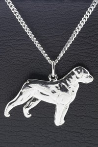 Zilveren Hond ketting hanger