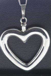 Zilveren Ashanger Hart XL ketting hanger