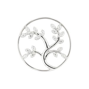 "MY iMenso ""tree of life"" fantasy cz 33mm insignia (925/rhod-plated)"
