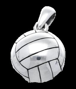Zilveren Volleybal kettinghanger