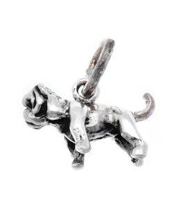 Zilveren Bulldog klein kettinghanger