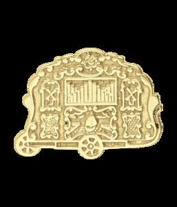 Gouden Draaiorgel ketting hanger